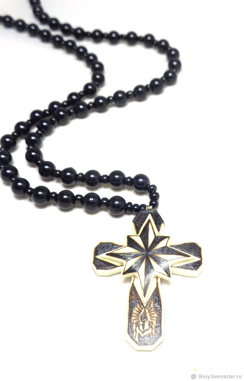 Четки ручной работы. Ярмарка Мастеров - ручная работа. Купить Крест на шею АУЕ. Handmade. Оберег, подарок на любой случай