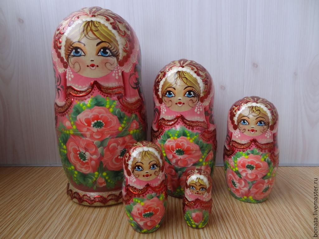 """Матрёшка 5 мест """" Розовые розы..."""", Матрешки, Тверь,  Фото №1"""