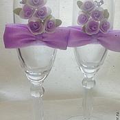 Свадебный салон ручной работы. Ярмарка Мастеров - ручная работа Свадебные бокалы Violett. Handmade.