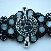 Аксессуары handmade. Livemaster - original item Watch with soutache bracelet. Handmade.