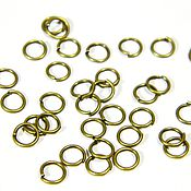 Accessories4 handmade. Livemaster - original item Ring coupling, color bronze, 5 mm. 10 PCs. Handmade.