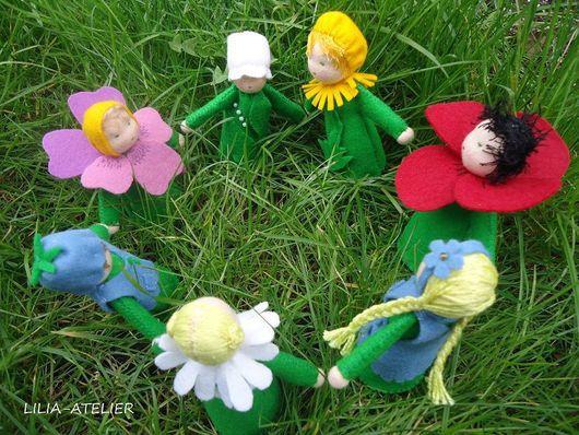 Вальдорфская игрушка ручной работы. Ярмарка Мастеров - ручная работа. Купить Вальдорфские куколки Матушка Земля и ее детки. Handmade.