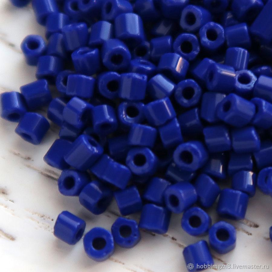 Для украшений ручной работы. Ярмарка Мастеров - ручная работа. Купить Бисер рубка Чехия синий (33050). Handmade. Синий