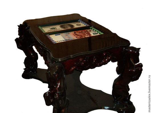 """Мебель ручной работы. Ярмарка Мастеров - ручная работа. Купить Эксклюзивный стол """"Премиум"""" (нарды, шахматы). Handmade. шахматная доска"""