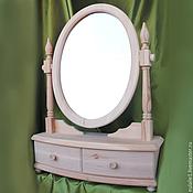 Для дома и интерьера ручной работы. Ярмарка Мастеров - ручная работа Мини-комод из натурального дерева с овальным зеркалом. Handmade.
