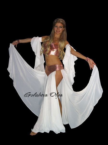 юбка из кашибо с двумя широкими разрезами