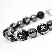 Украшения handmade. Livemaster - original item Men`s bracelet with hematite