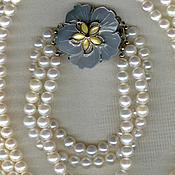 Украшения handmade. Livemaster - original item bracelet natural pearls three rows. Handmade.