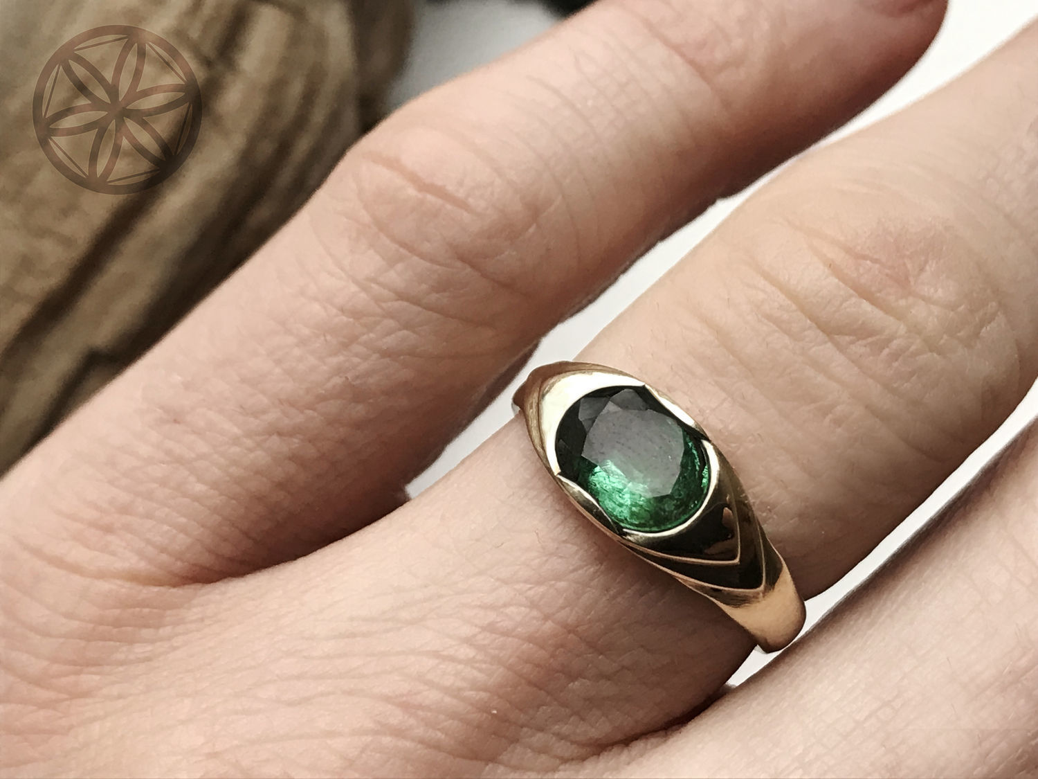 14K Women's gold Emerald ring (1,83 ct) handmade, Rings, Moscow,  Фото №1