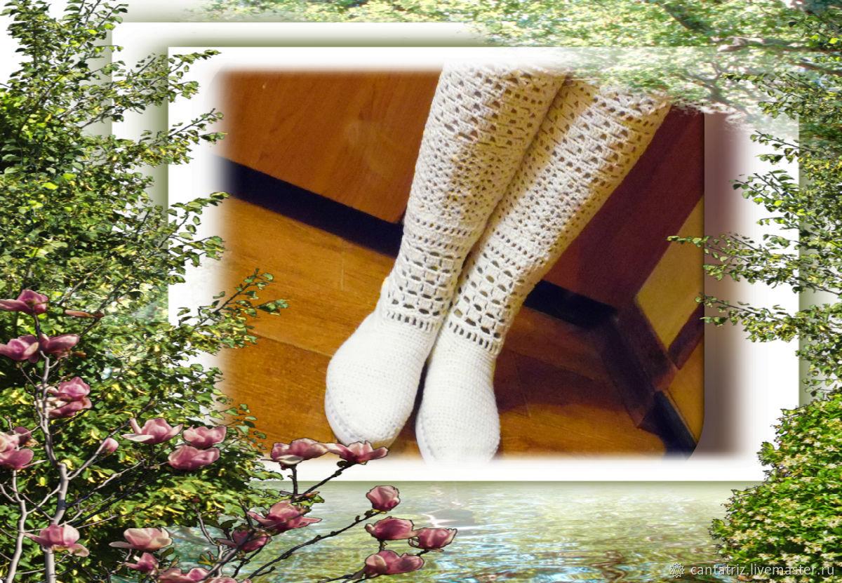 Обувь ручной работы. Ярмарка Мастеров - ручная работа. Купить Вязаные сапожки. Handmade. Вязание, вязаные сапожки, сапоги женские