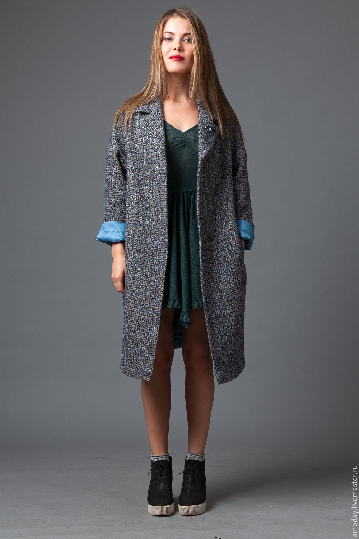 купить ткань на пальто твид