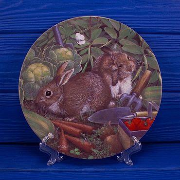 Винтаж ручной работы. Ярмарка Мастеров - ручная работа Тарелка Coalport Rabbits с сертификатом. Handmade.