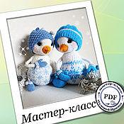 Материалы для творчества handmade. Livemaster - original item Snowmen spokes. MK (the description of the knitting). Handmade.