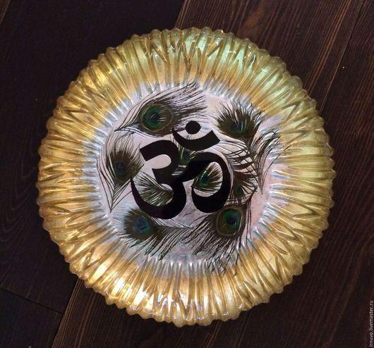 Декоративная посуда ручной работы. Ярмарка Мастеров - ручная работа. Купить Тарелка декоративная  Om. Handmade. Подарок, Тарелка декоративная