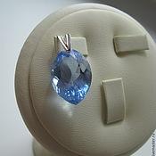 Украшения handmade. Livemaster - original item Pendant / pendant with Swiss Blue Topaz. 925 sterling silver PR.. Handmade.