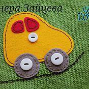 """Работы для детей, ручной работы. Ярмарка Мастеров - ручная работа Кофта """" Машинки"""". Handmade."""