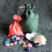 Сувениры и подарки ручной работы. Ярмарка Мастеров - ручная работа Игра мемори Самоцветы и Ракушки в мешочке. Handmade.