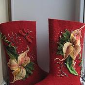Обувь ручной работы. Ярмарка Мастеров - ручная работа валенки ручной работы,валенки дизайнерские, зимняя обувь. Handmade.
