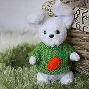 Куклы и игрушки ручной работы. Ярмарка Мастеров - ручная работа Тедди. Зайка. В зелёном.. Handmade.