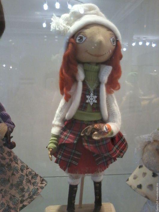 Куклы тыквоголовки ручной работы. Ярмарка Мастеров - ручная работа. Купить Снегири. Handmade. Ярко-красный, ручная работа, холлофайбер