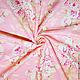 Шитье ручной работы. Заказать Американский хлопок  БУКЕТЫ РОЗ на розовом фоне. ХЛОПОК из АМЕРИКИ от МОДНЫХ ВМЕСТЕ. Ярмарка Мастеров.