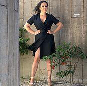Одежда ручной работы. Ярмарка Мастеров - ручная работа Чёрное платье с запахом. Handmade.