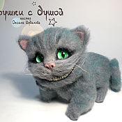 Куклы и игрушки ручной работы. Ярмарка Мастеров - ручная работа Чеширский кот, валяная игрушка. Handmade.