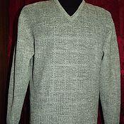 Одежда handmade. Livemaster - original item 100% linen men`s cardigan cage light hangova.. Handmade.