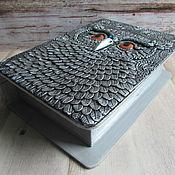 """Для дома и интерьера handmade. Livemaster - original item Книга-шкатулка """"Мудрая Сова"""" ручной работы.Декор полимерной глиной. Handmade."""