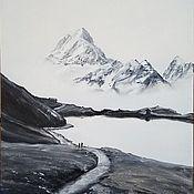 """Картины ручной работы. Ярмарка Мастеров - ручная работа """"Прогулка у озера"""". Handmade."""