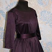 """Одежда ручной работы. Ярмарка Мастеров - ручная работа Платье в стиле 50-х """"Спелая слива"""". Handmade."""