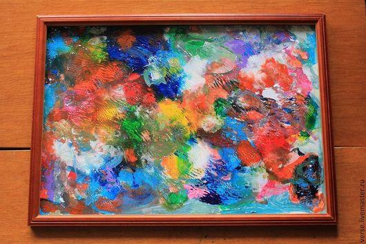 Абстракция ручной работы. Ярмарка Мастеров - ручная работа. Купить Картина Яркие краски. Handmade. Абстракция, акрил, краски, красный