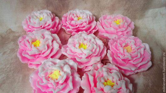 """Мыло ручной работы. Ярмарка Мастеров - ручная работа. Купить Мыло """"Пион древовидный"""". Handmade. Пион, цветы"""