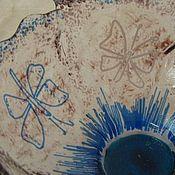 """Посуда ручной работы. Ярмарка Мастеров - ручная работа Фьюзинг. Салатник """"Бабочки"""". Handmade."""