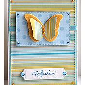 Открытки ручной работы. Ярмарка Мастеров - ручная работа Открытка с бабочкой. Handmade.