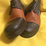 Ботинки ручной работы. Ярмарка Мастеров - ручная работа Коричневые, рыжие кожаные ботинки ручной работы. Handmade.