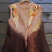 Одежда handmade. Livemaster - original item Vest felted Viennese coffee. Handmade.