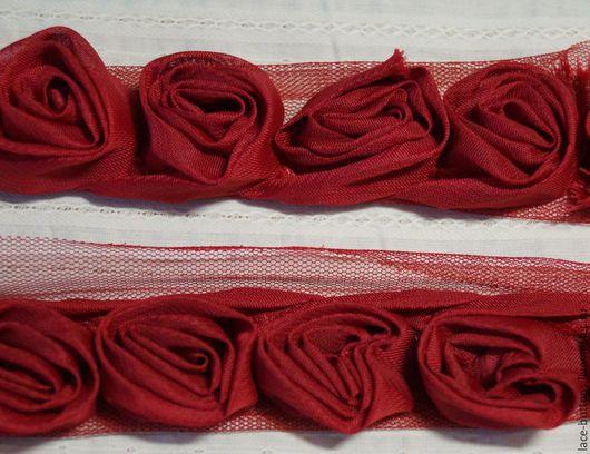 Шитье ручной работы. Ярмарка Мастеров - ручная работа. Купить Объемные цветы 3,5см бордо. Handmade. Объемные цветы