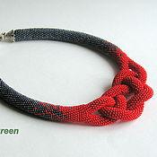 Украшения handmade. Livemaster - original item Harness beaded Hematite and coral. Handmade.