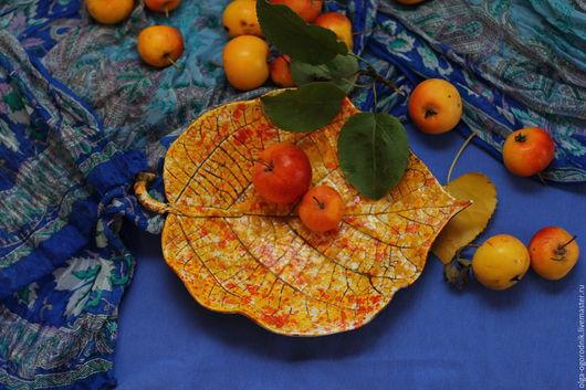 Блюдо `Райские яблочки`  Авторская керамика.