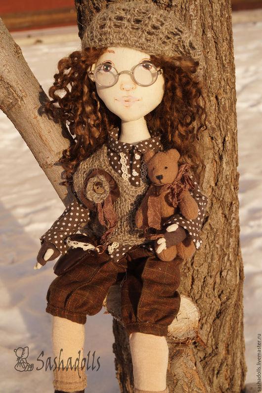 Коллекционные куклы ручной работы. Ярмарка Мастеров - ручная работа. Купить Авторская куколка Катюша. Handmade. Коричневый