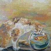 Картины и панно ручной работы. Ярмарка Мастеров - ручная работа Картина. Ловись рыбка золотая.... Handmade.