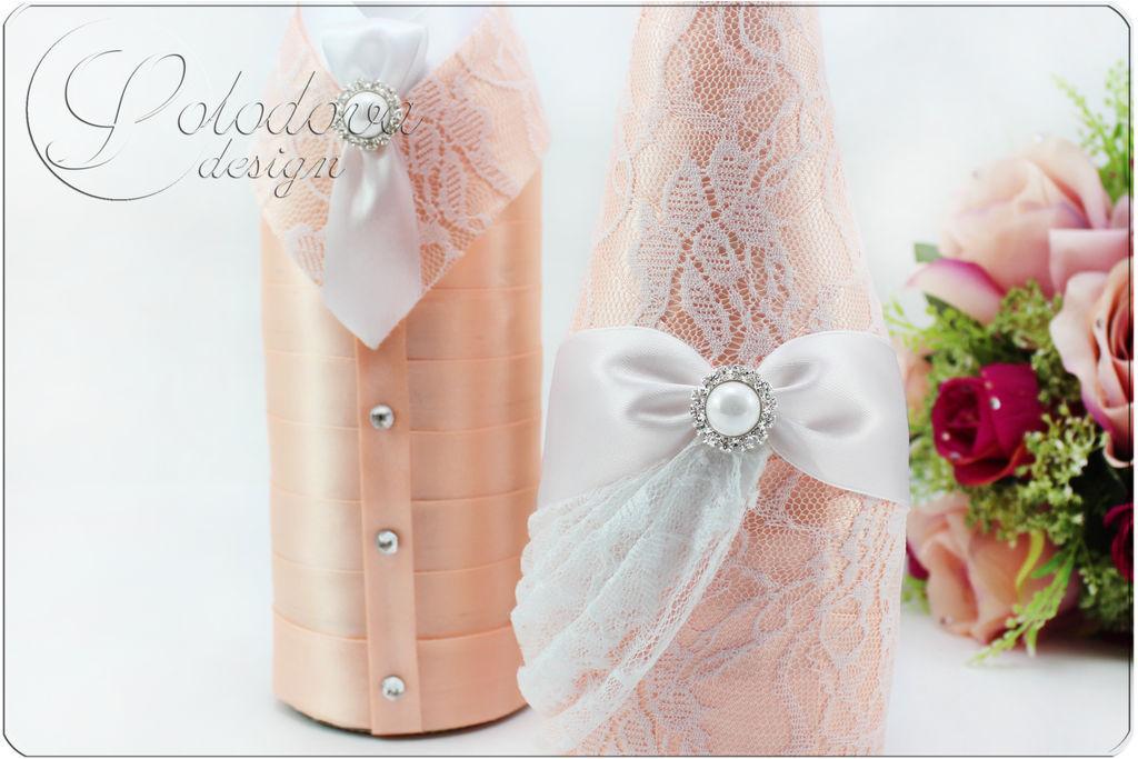 Свадебные аксессуары своими руками в персиковом цвете 6