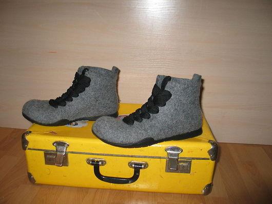 """Обувь ручной работы. Ярмарка Мастеров - ручная работа. Купить Войлочные ботинки """" BE COOL"""". Handmade. Валенки"""