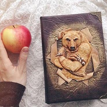 Канцелярские товары ручной работы. Ярмарка Мастеров - ручная работа Блокнот с медведем. Handmade.