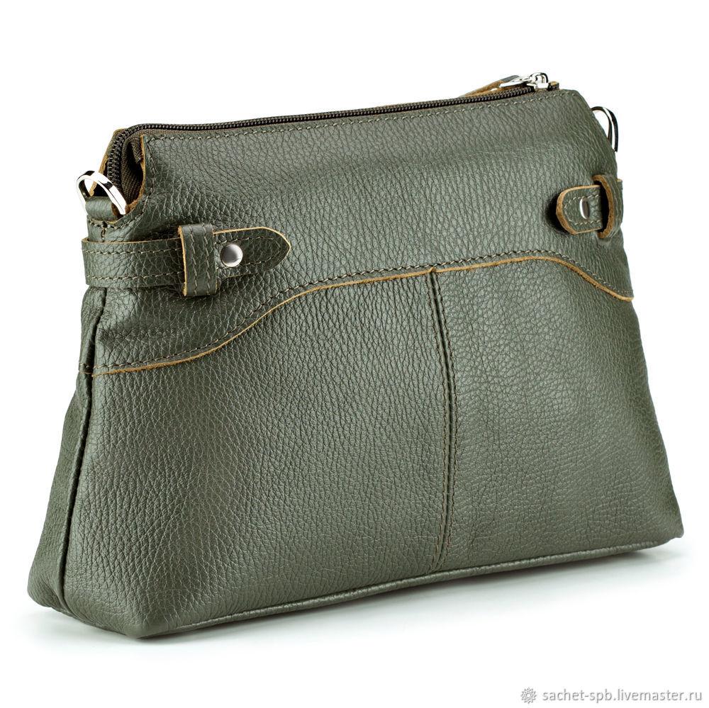 Women's leather bag 'Ariel' (olive), Crossbody bag, St. Petersburg,  Фото №1