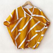 Одежда ручной работы. Ярмарка Мастеров - ручная работа Блуза-топ Geometry. Handmade.