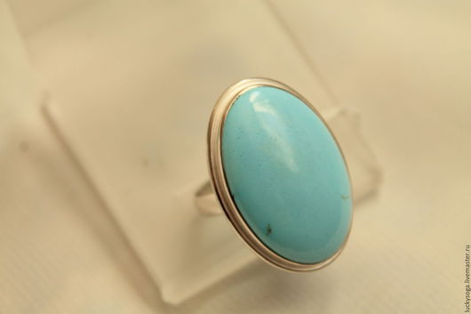 """Кольца ручной работы. Ярмарка Мастеров - ручная работа. Купить кольцо  с бирюзой """" Адель"""". Handmade. Голубой, кольцо"""