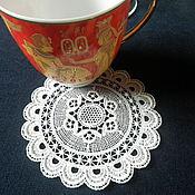 Для дома и интерьера handmade. Livemaster - original item Lace napkin(stand glass) Charm. Handmade.