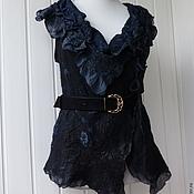 Одежда handmade. Livemaster - original item Black Swan vest. The Nuno.. Handmade.